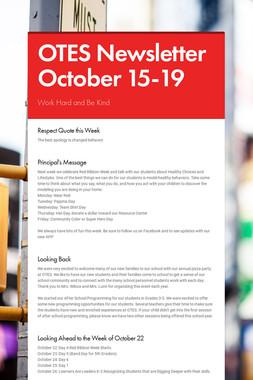OTES Newsletter October 15-19