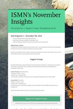 ISMN's November Insights