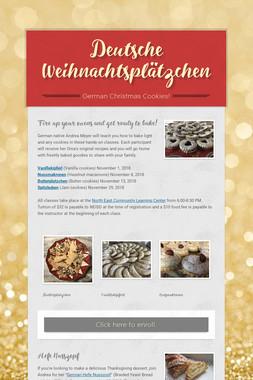Deutsche Weihnachtsplätzchen