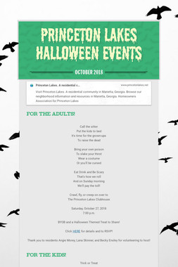 Princeton Lakes Halloween Events