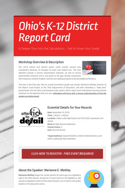 Ohio's K-12 District Report Card