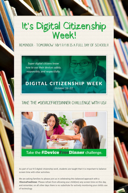 It's Digital Citizenship Week!