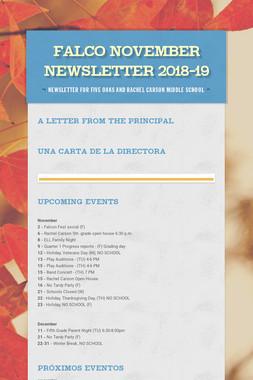 Falco November Newsletter  2018-19