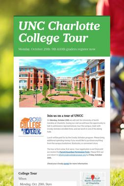 UNC Charlotte College Tour