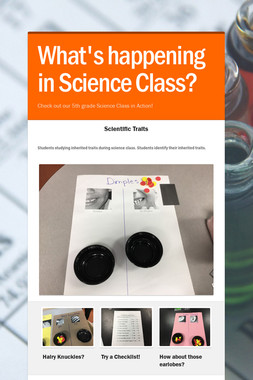 What's happening in Science Class?