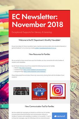 EC Newsletter: November 2018