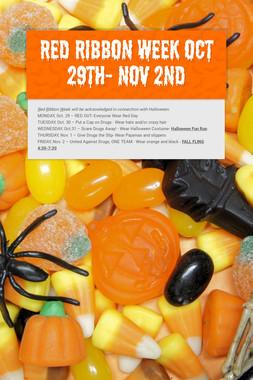 Red Ribbon Week Oct 29th- Nov 2nd