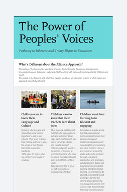 The Power of Peoples' Voices