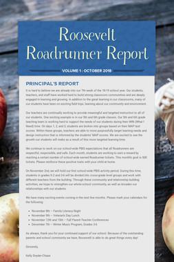 Roosevelt Roadrunner Report