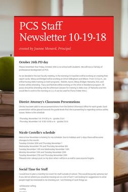 PCS Staff Newsletter 10-19-18