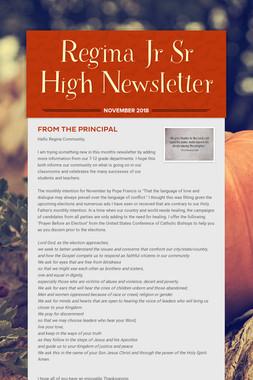 Regina Jr Sr High Newsletter