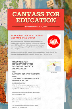 Canvass for Education