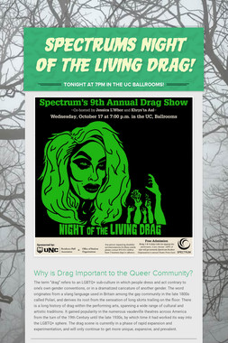 Spectrums Night of the Living Drag!