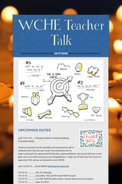 WCHE Teacher Talk