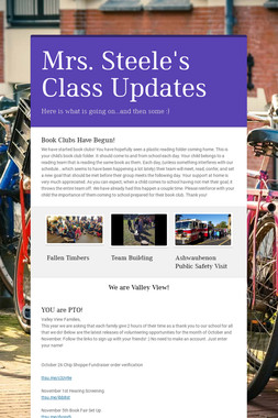 Mrs. Steele's Class Updates