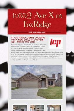 10332 Ave X in FoxRidge