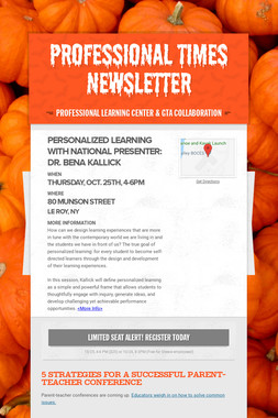 Professional Times Newsletter