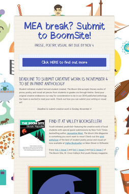MEA break? Submit to BoomSite!