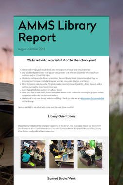 AMMS Library Report