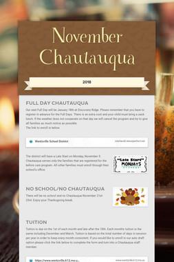 November Chautauqua
