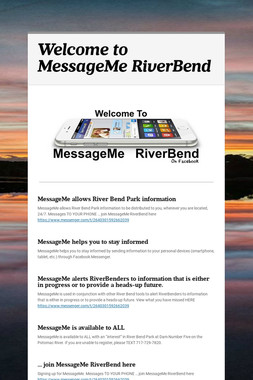 Welcome to MessageMe RiverBend