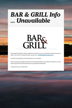 BAR & GRILL Info ... Unavailable