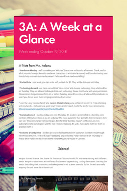 3A: A Week at a Glance