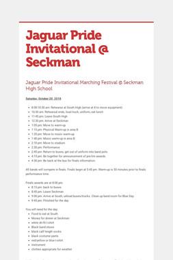 Jaguar Pride Invitational @ Seckman