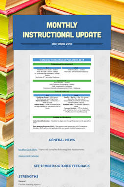 Monthly Instructional Update