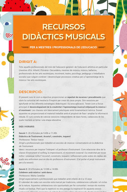 RECURSOS DIDÀCTICS MUSICALS