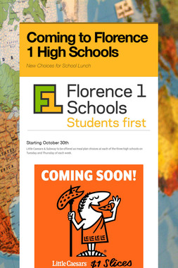 Coming to Florence 1 High Schools