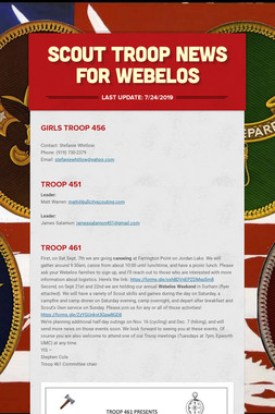 Scout Troop News for Webelos