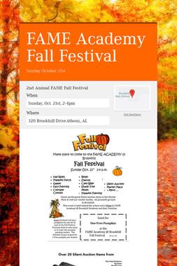 FAME Academy Fall Festival