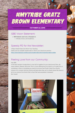 #mytribe Gratz Brown Elementary