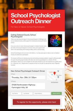 School Psychologist Outreach Dinner