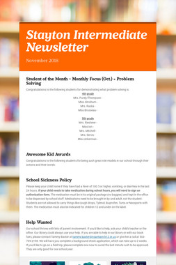Stayton Intermediate Newsletter