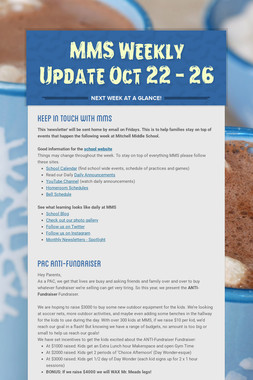 MMS  Weekly Update Oct 22 - 26