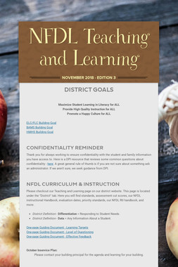 NFDL Teaching and Learning