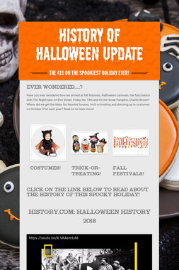 History of Halloween Update