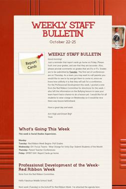 WEEKLY STAFF BULLETIN