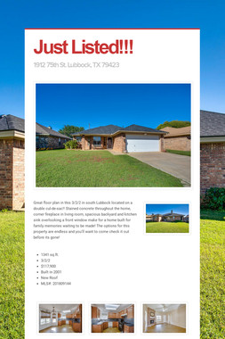 Just Listed!!!