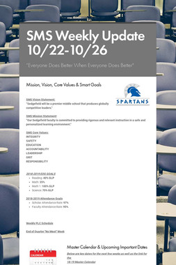 SMS Weekly Update 10/22-10/26