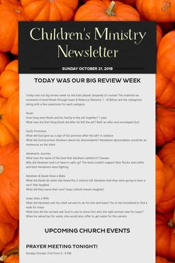 Children's Ministry Newsletter