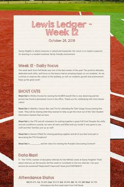 Lewis Ledger - Week 12