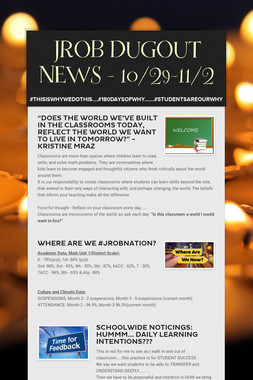 JROB DUGOUT NEWS - 10/29-11/2
