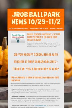 JROB BALLPARK NEWS 10/29-11/2