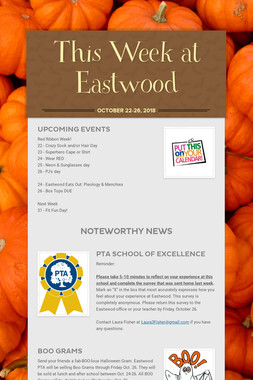 This Week at Eastwood