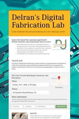 Delran's Digital Fabrication Lab