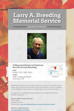Larry A. Breeding Memorial Service