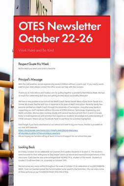 OTES Newsletter October 22-26